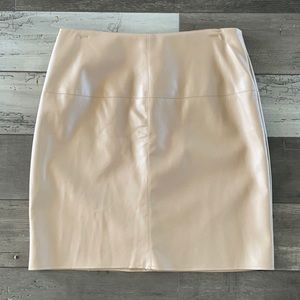 Missguided Faux Tan Leather Mini Skirt